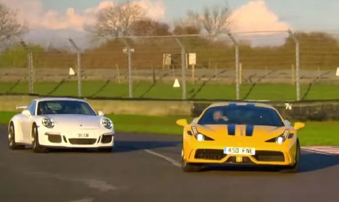 Ferrari 458 Speciale e Porsche 911 GT3, che battaglia in pista [VIDEO]