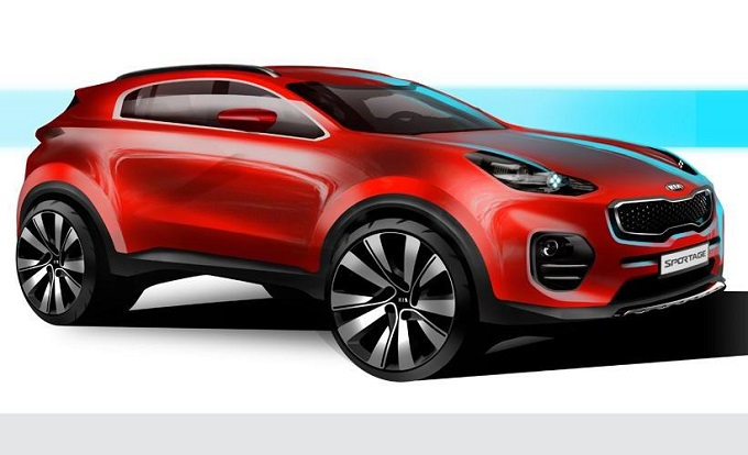 Kia Sportage MY 2016 - Sketch design