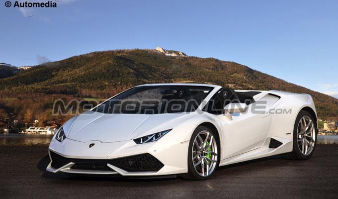Lamborghini Huracan Spyder, sarà svelata al Salone di Francoforte 2015