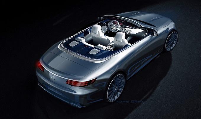 Mercedes Classe S Cabriolet, un RENDERING ufficiale svela la nuova cabrio di Stoccarda