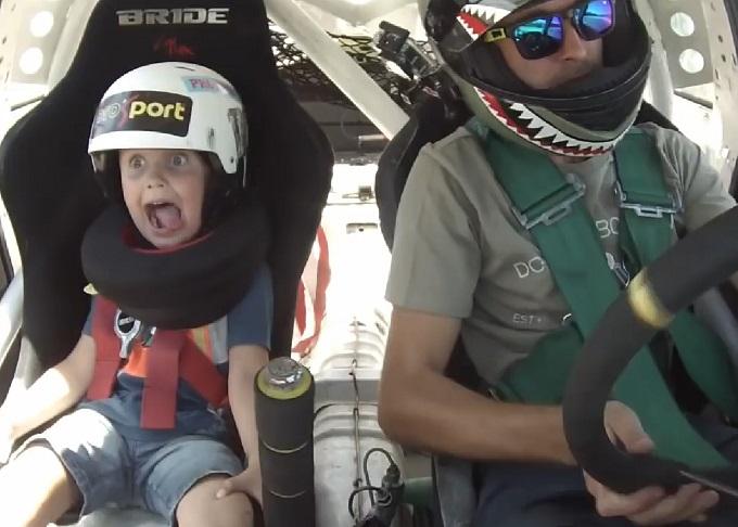 Drifting, è più bello se lo si fa con papà [VIDEO]