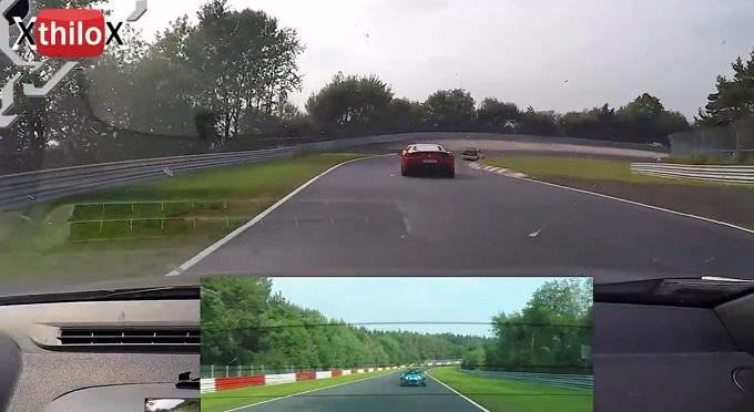 """Ferrari 458 Speciale, il """"traffico"""" ed un pilota meno esperto la mettono alla pari con una Megane RS 250 [VIDEO]"""