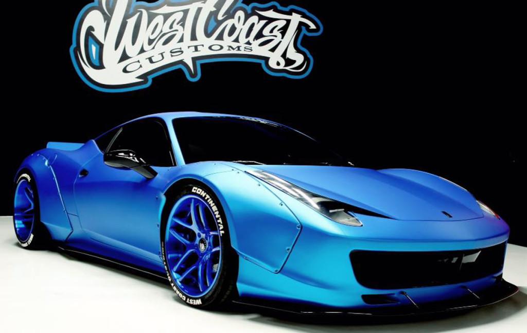 La Ferrari 458 Italia di Justin Bieber si tinge di Blue Frozen