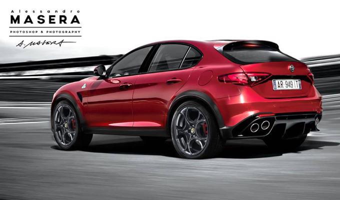 Alfa Romeo SUV: immaginato il crossover nell'ipotetica versione Quadrifoglio [RENDERING]