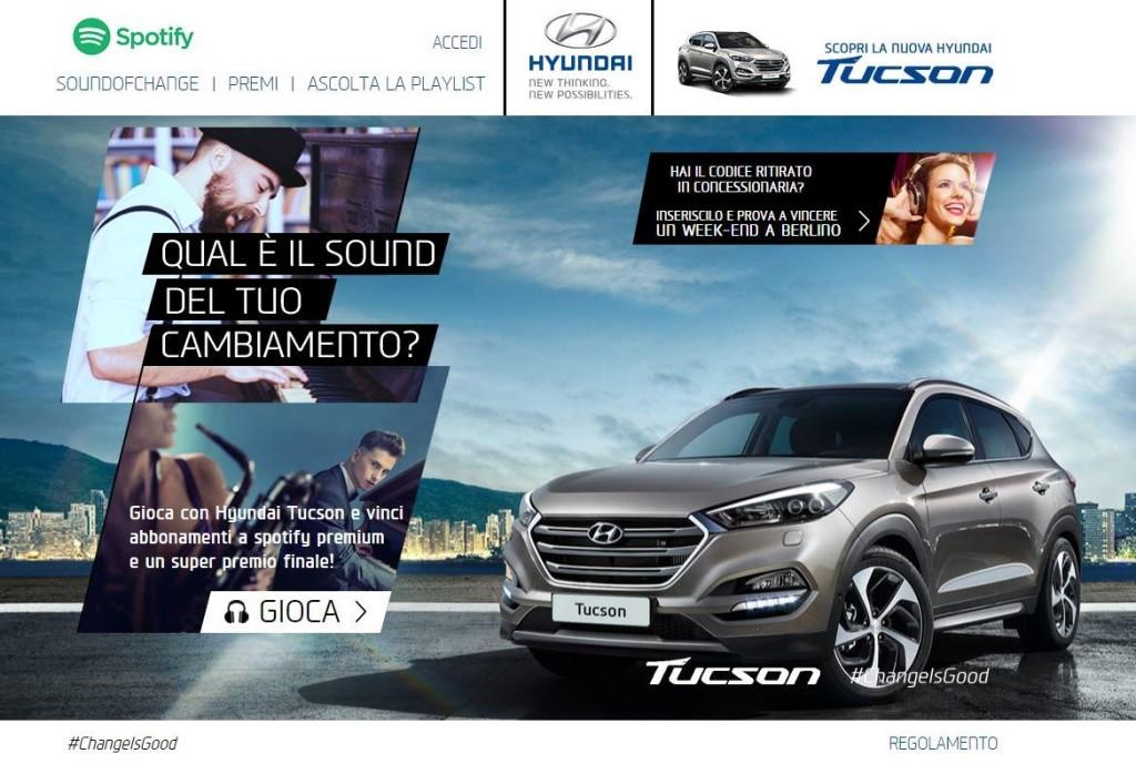 "Nuova Hyundai Tucson suona il ""Sound of Change"" insieme a Spotify"