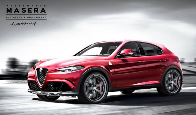 Alfa Romeo SUV - l'ipotetica versione Quadrifoglio immaginata da Alessandro Masera