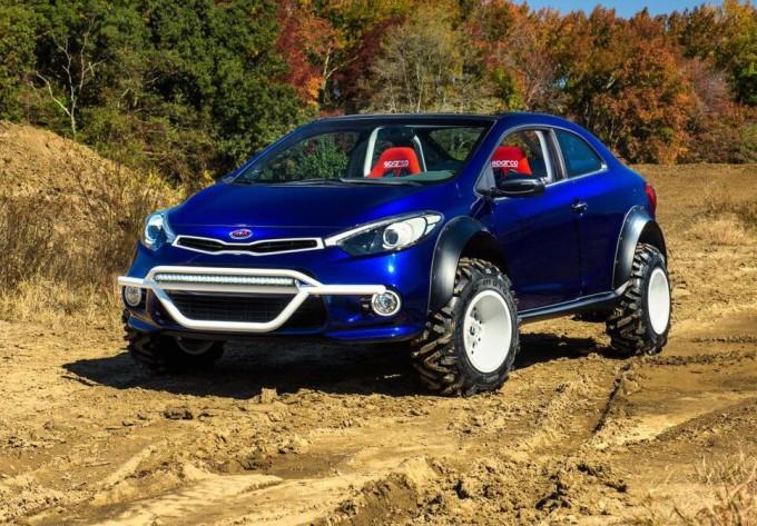 Kia Forte Koup Mud Bogger, concept per l'off-road d'assalto al SEMA 2015