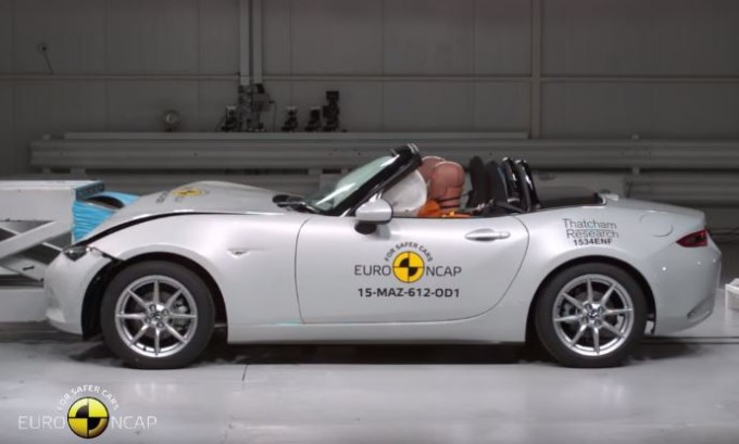 Mazda MX-5 MY 2016 ottiene 4 stelle ai crash test Euro NCAP [VIDEO]