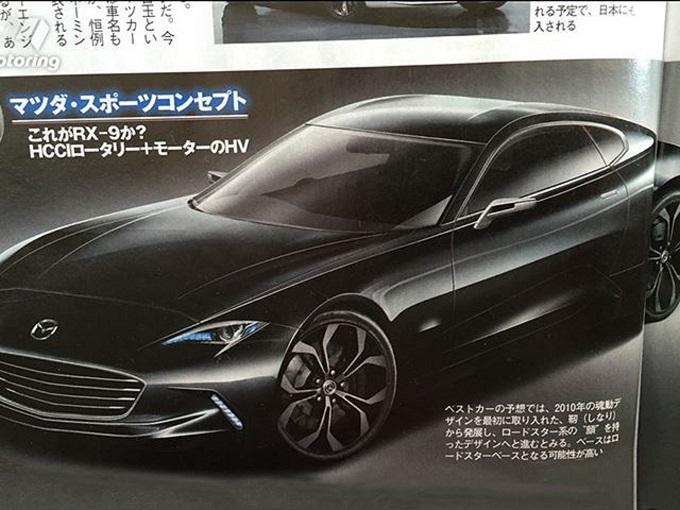 Mazda RX-9 Concept, render della nuova sportiva nipponica che debutta a Tokyo