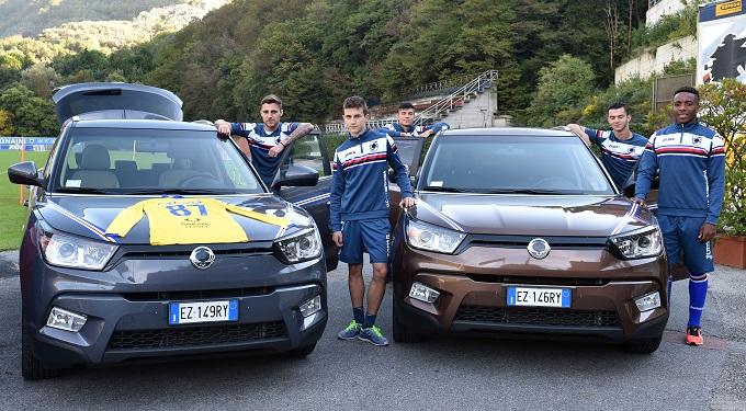 SsangYong diventa lo sponsor della Sampdoria