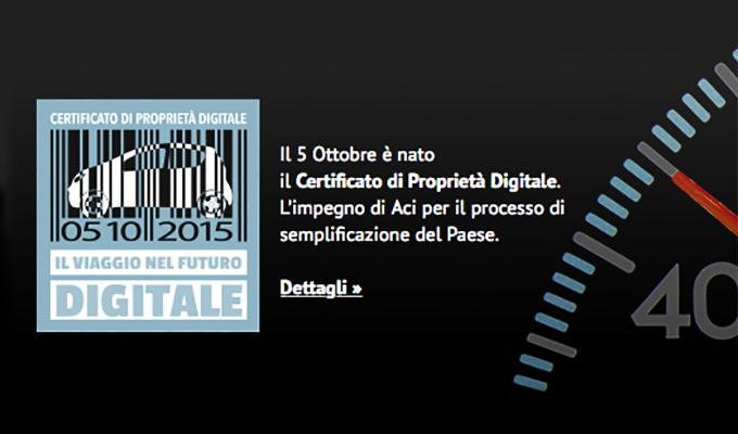 Certificato di Proprietà, ufficialmente in vigore il nuovo formato digitale