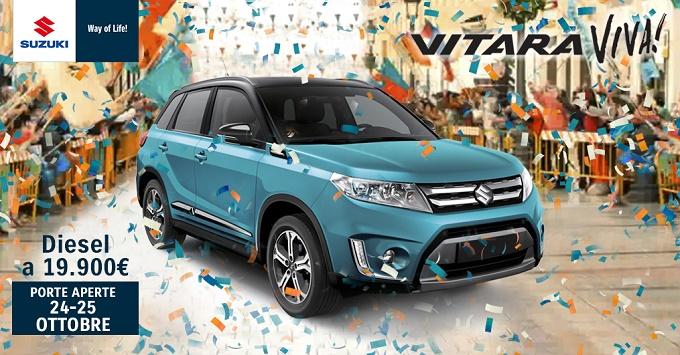 Suzuki Vitara, porte aperte sabato 24 e 25 ottobre