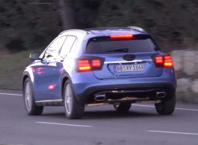 Mercedes GLA: in un nuovo VIDEO SPIA si notano i ritocchi minimal