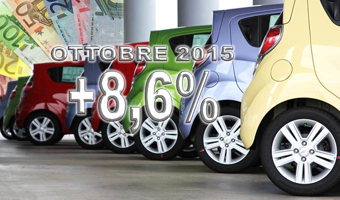 Mercato auto: ad ottobre continua la rinascita con un +8,6%