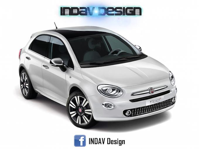 Fiat 500+, possibile erede della Punto [RENDERING]