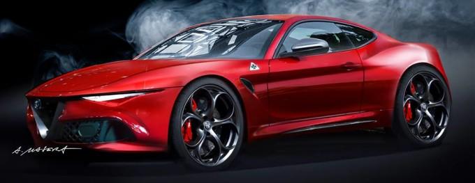 Alfa Romeo Coupé, tributo moderno alla sportività del Biscione [RENDERING]