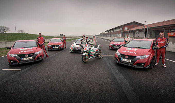Honda: un confronto a 360° tra Civic Type R e RC213V da MotoGP [VIDEO]