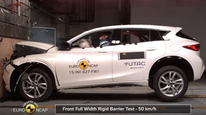 Infiniti Q30 premiata con le cinque stelle Euro NCAP [VIDEO]