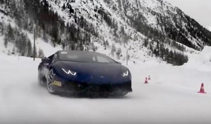 Lamborghini Winter Accademia: una focosa energia tra panorami innevati [VIDEO]