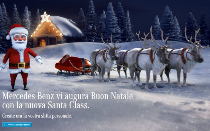 Mercedes augura Buon Natale con lo spot della nuova Classe C e le slitte di Santa Class [VIDEO]