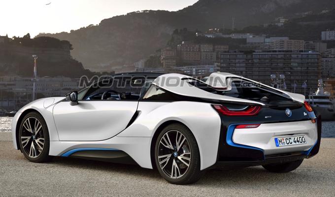 BMW i8 Spyder: un'idea dell'innovativa roadster che potrebbe arrivare nel 2018 [RENDERING]
