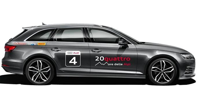 Audi A4 Avant protagonista all'inedita 20quattro ore delle Alpi