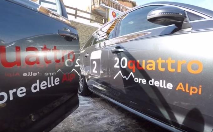 Nuova Audi A4 Avant supera a pieni voti la prova della 20quattro ore delle Alpi [VIDEO]