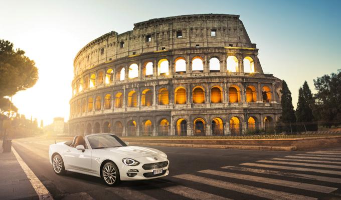 Fiat 124 Spider verso Ginevra: tappa a Roma e Madrid