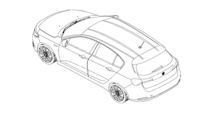Fiat Tipo hatchback: appare sul web un brevetto della due volumi