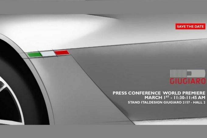 Italdesign Giugiaro annuncia un nuovo concept in anteprima al Salone di Ginevra 2016 [TEASER]