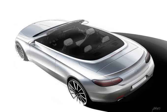 Nuova Mercedes Classe C Cabrio: sketch design in vista di Ginevra 2016 [TEASER]