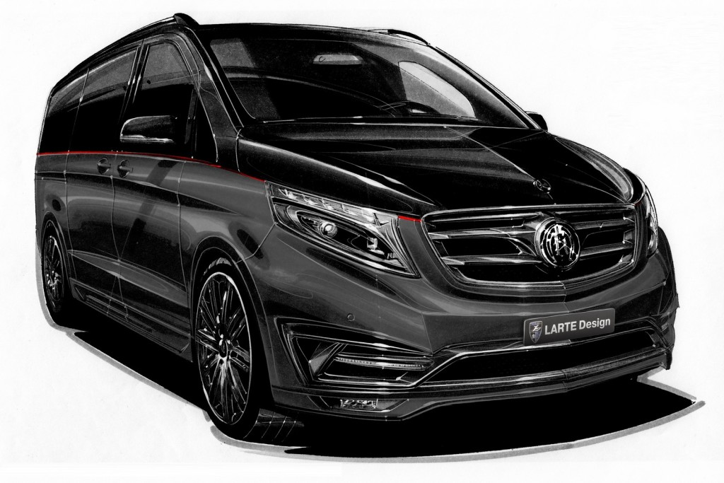 Mercedes Classe V Black Crystal by Larte Design