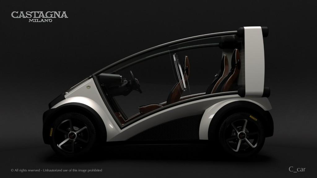 L'atelier Castagna scommette sull'auto elettrica componibile: ecco la C_car