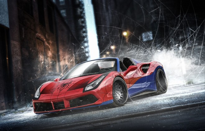 Ferrari-488-Spider-Spiderman