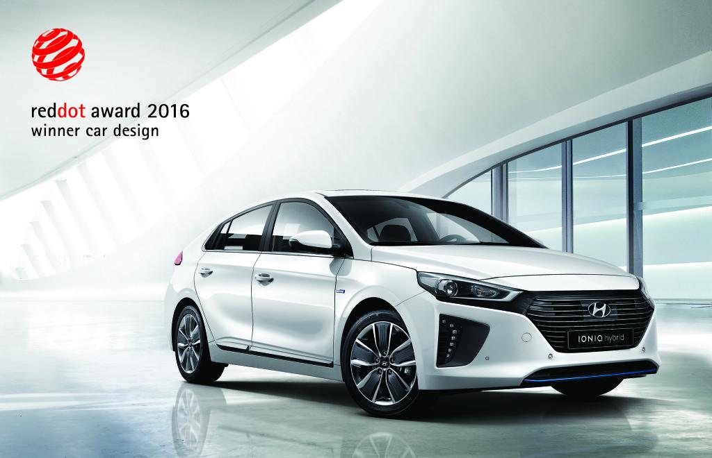 Hyundai Ioniq premiata con il Red Dot Design Award 2016