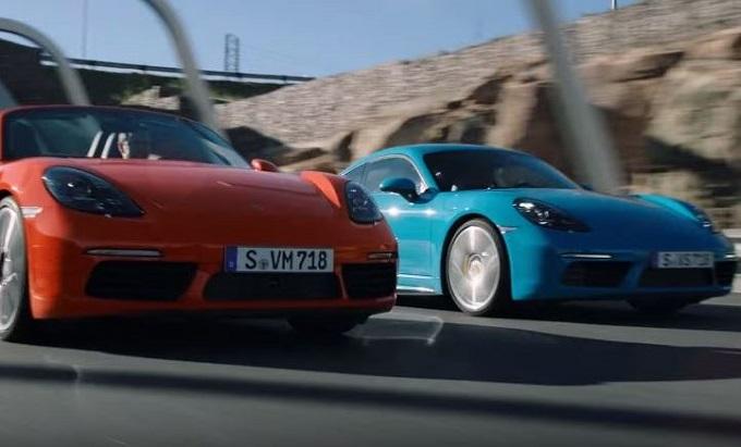 Porsche 718 Boxster e 718 Cayman: l'inseguimento è mozzafiato [VIDEO]
