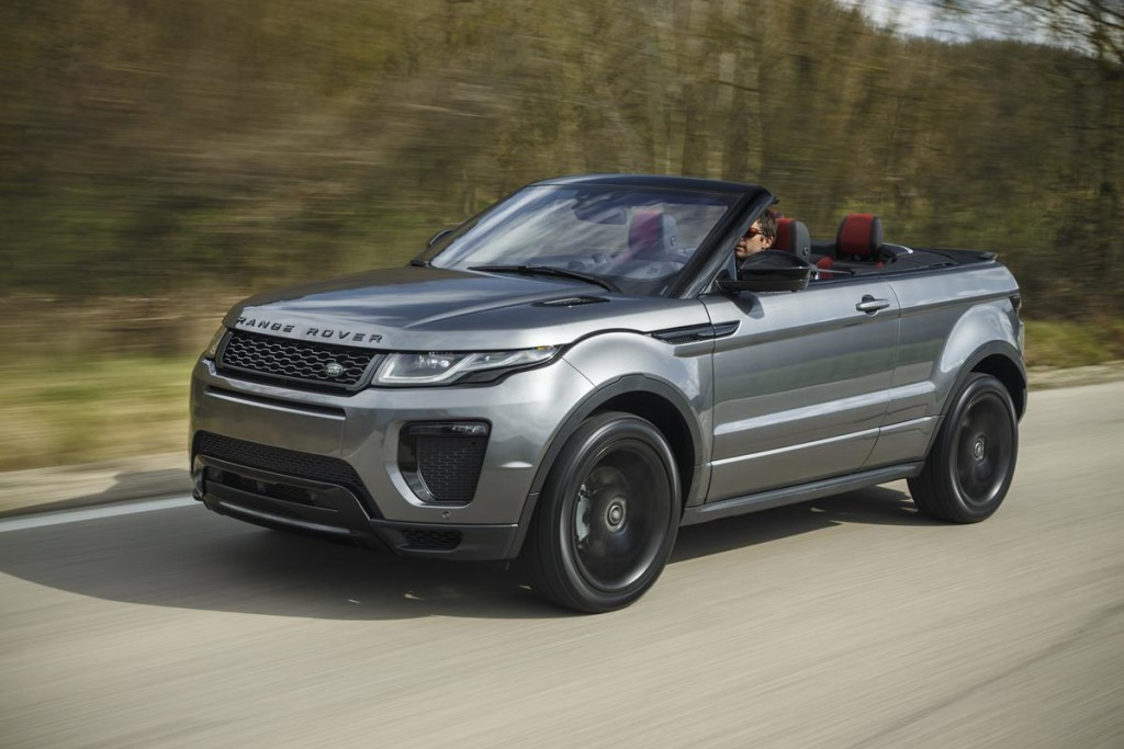 range rover evoque cabrio il suv scoperto per tutte le. Black Bedroom Furniture Sets. Home Design Ideas