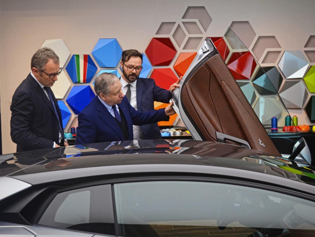 Jean Todt in visita alla Lamborghini
