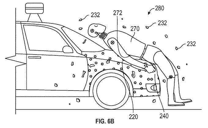"""Google brevetta il cofano """"appiccicoso"""" che tiene incollati i pedoni in caso di investimento"""