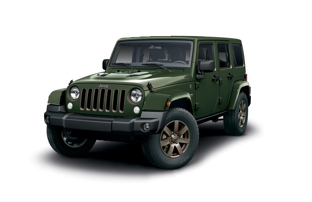 Jeep Wrangler 75th Anniversary debutta in Italia: il prezzo è di 49.000 euro