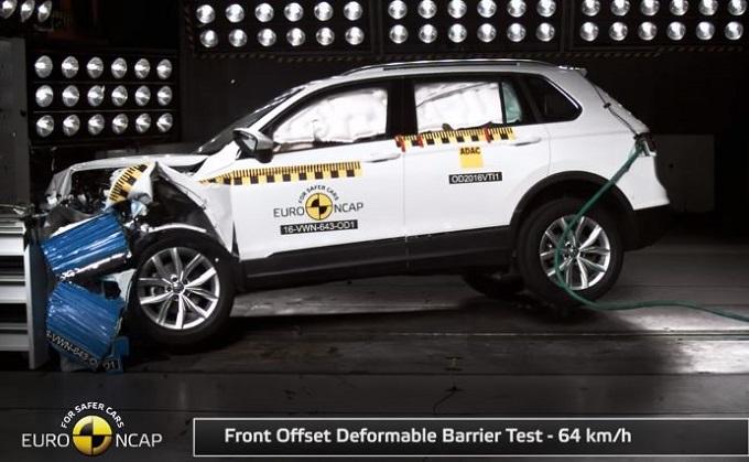 Volkswagen Tiguan MY 2016 conquista le 5 stelle Euro NCAP [VIDEO]