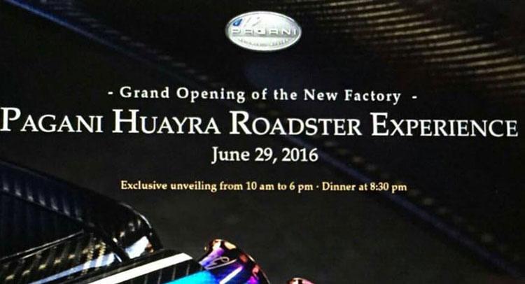 Pagani Huayra Roadster: svelata solo ad una ristretta clientela?