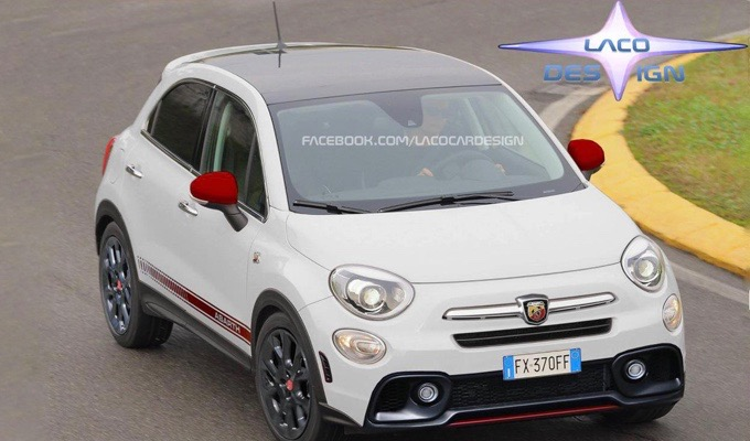 Abarth 500X: un'altra idea dell'eventuale SUV dello Scorpione [RENDERING]
