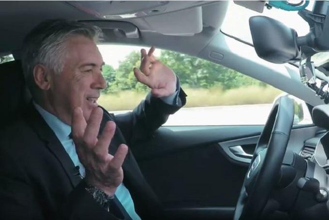 L'Audi A7 con Autopilot accoglie Carlo Ancelotti a Monaco [VIDEO]