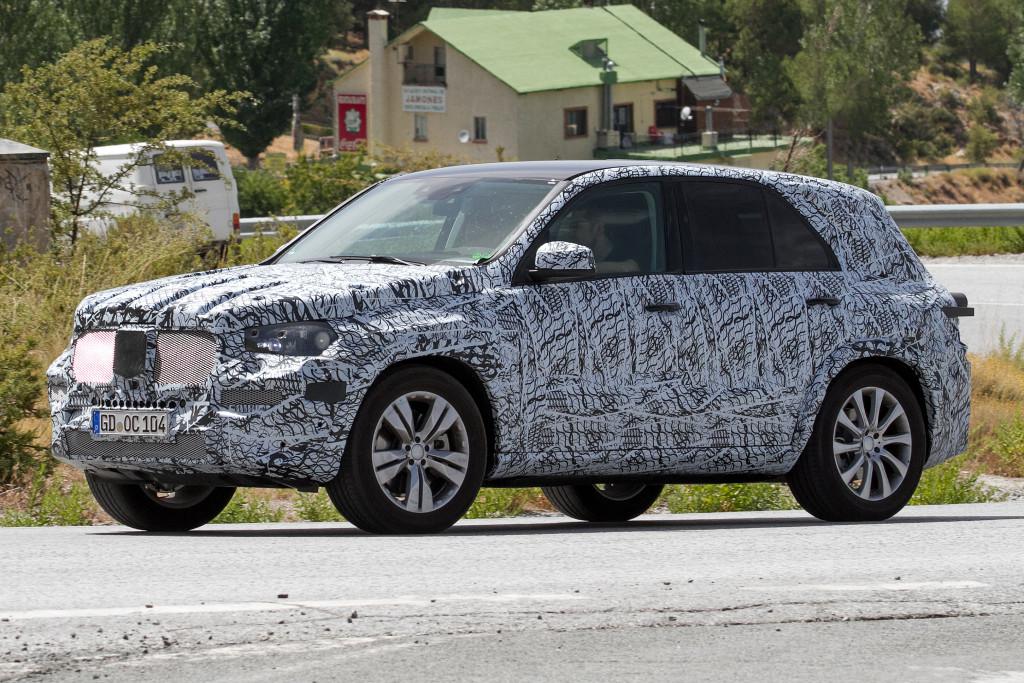 Nuova Mercedes GLE foto spia 27 luglio 2016