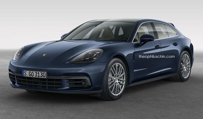 Porsche Panamera Sport Turismo: la Shooting Brake potrebbe debuttare a Parigi [RENDERING]