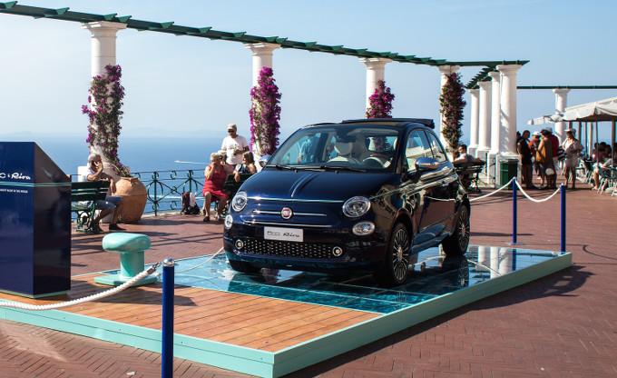 Fiat 500 festeggia il suo compleanno a Capri insieme a Riva