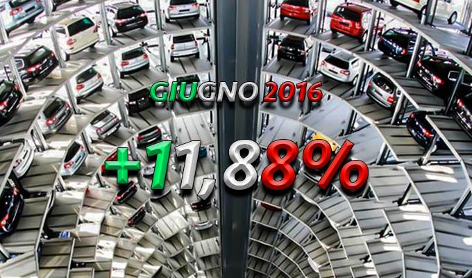Mercato Auto Italia: giugno 2016 chiude con una crescita oltre l'11%
