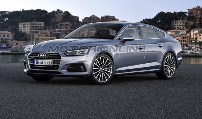 Audi A5 Sportback MY 2017: un'ipotesi delle possibili forme [RENDERING]