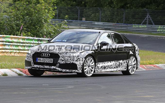 Audi RS3 Sedan MY 2018: messa alla frusta sul Nordschleife [VIDEO SPIA]